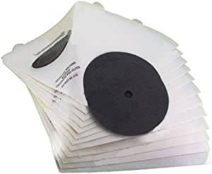 Paquete Spares2go de 12 filtros de aspiradora cónicos para aspiradora de filtro Queen