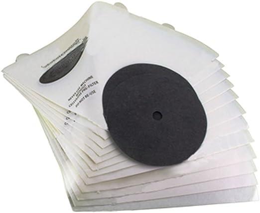 Paquete Spares2go de 12 filtros de aspiradora cónicos para ...