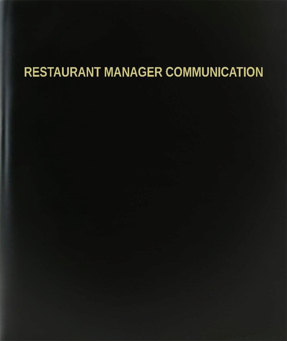 "BookFactory Restaurant Manager Communication Log Book/Journal/Logbook - 120 Page, 8.5""x11"", Black Hardbound (XLog-120-7CS-A-L-Black(Restaurant Manager Communication Log Book))"