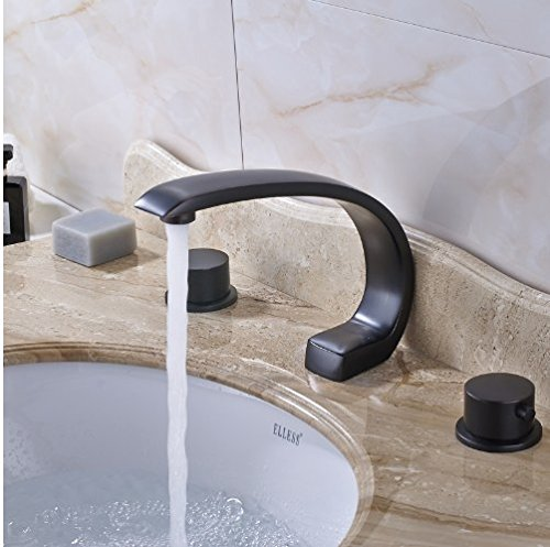 Gowe Best Design Best Quality High-end Spout with Two Handles WC Wash Basin Sink Faucet 1