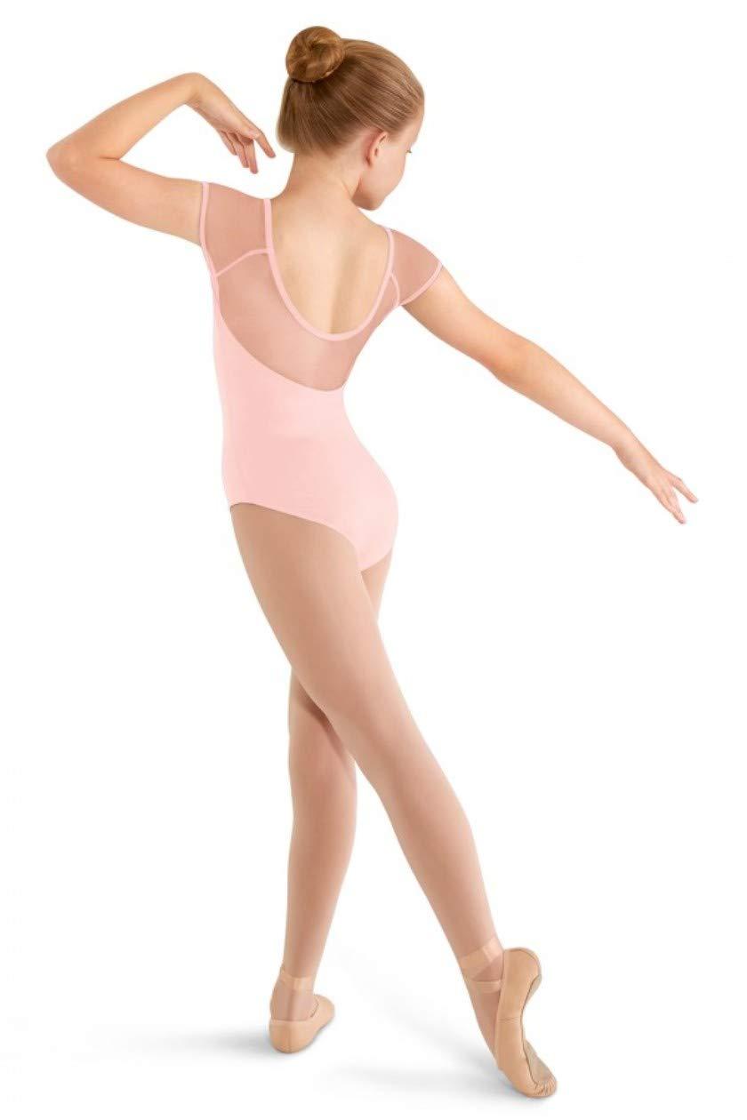 Mirella Girls Soft Mesh Cap Sleeve Dance Leotard by Mirella