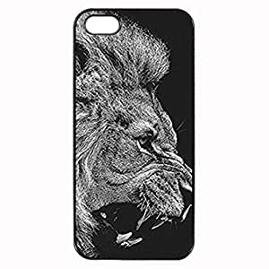 Lion Custom Image Case iphone 4 case , iphone 4S case, Diy Durable Hard Case Cover for iPhone 4 4S , High Quality Plastic Case By Argelis-sky, Black Case New