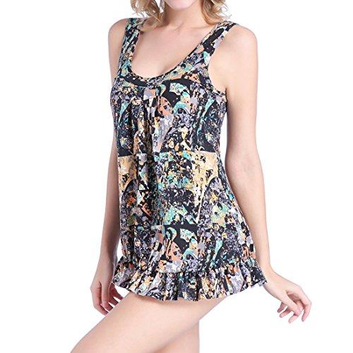 Beachwear Costumi Pezzo Sidiou Unico Nero Sexy Un Interi Da Costume Taglia Di Group Grossa Bagno Donna Stampa R6qvR