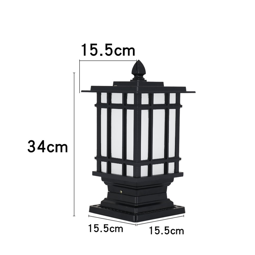 Modeen Continental IP54 Waterproof Garden Lawn Lights Modern Simple Glass Aluminum Villa Outdoor Table Lamp Floor Lamp Patio Aisle Landscape Street Post Light E27 Decorative Lighting