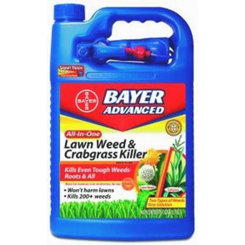Bayer Grass Weed Killer (Bayer Advanced 704130 All-in-One Lawn Weed and Crabgrass Killer Ready-To-Use, 1-Gallon)