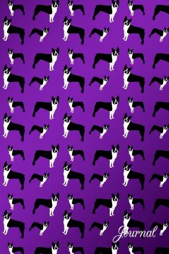 Journal: Purple dogs boston terriers notebook
