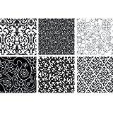 Floral Texture Mat Sheet Set of 6