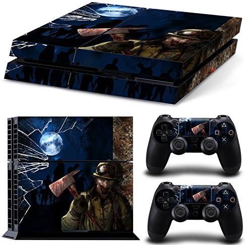 46 North Design Ps4 Playstation 4 Pegatinas De La Consola Zombie Horror + 2 Pegatinas Del Controlador: Amazon.es: Videojuegos