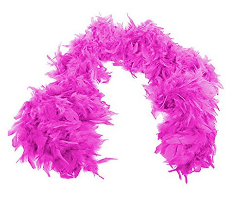 Pink Flapper Boa (Forum Novelties Women's 55-Gram Turkey Feather Boa, Hot Pink, One)