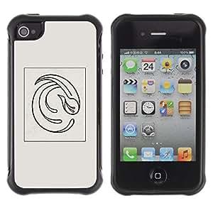 iArmor / Hybrid Anti-Shock Defend Case / Bird Minimalist Grey Black Poster / Apple iPhone 6 plus 5.5