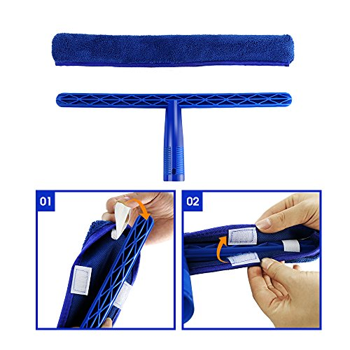 Masthome Squeegee and Microfiber Window Washer Squeegee Sets with Adjustable Handles Perfect for Window&Car Cleaning by Masthome (Image #3)