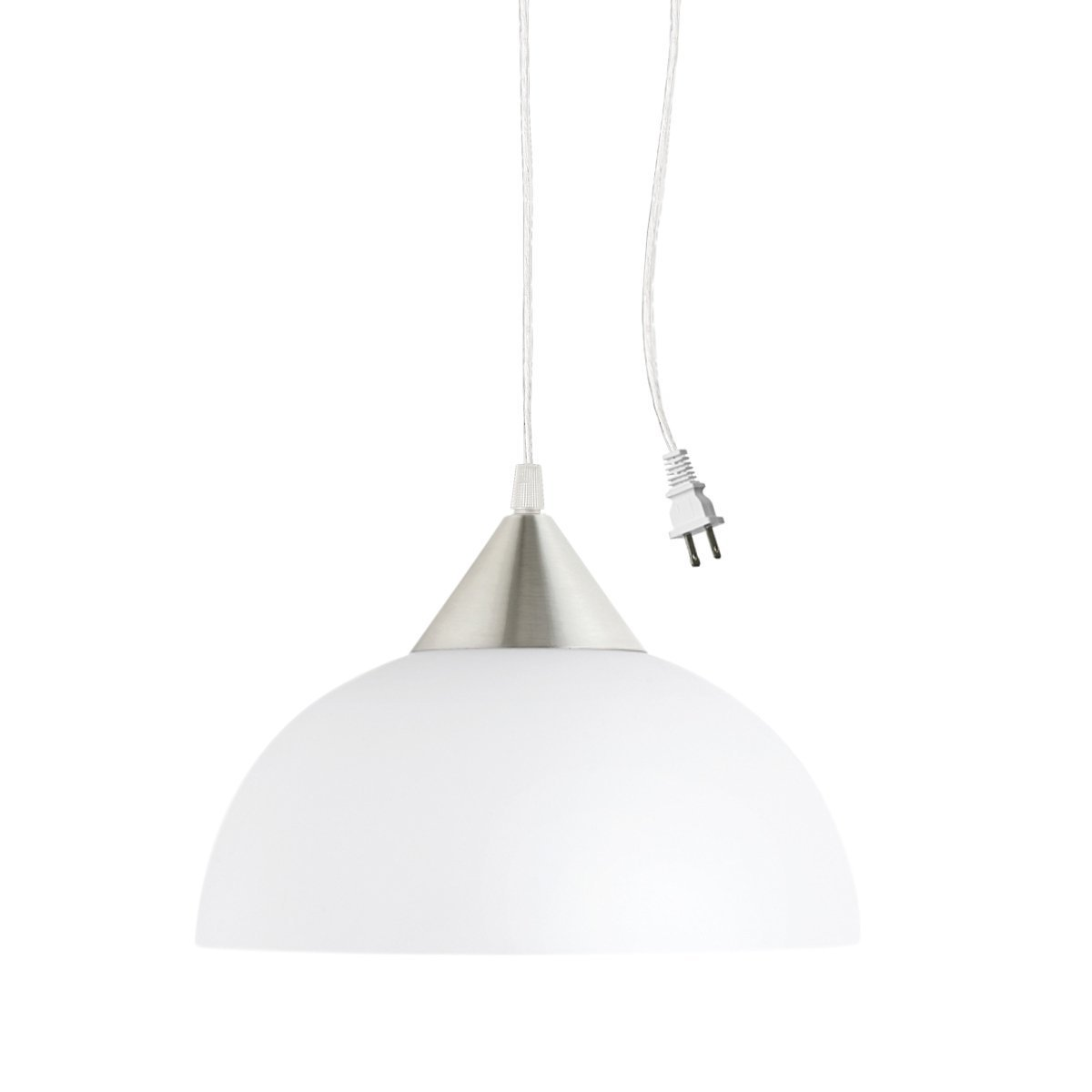 Newhouse Lighting Plug-in Hanging Pendant Light With Classic Lampshade and Timeless Design by Newhouse Lighting