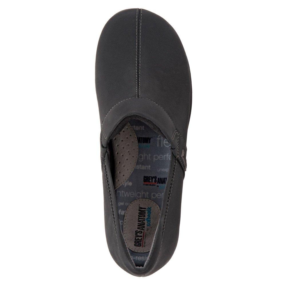 SoftWalk Women's Meredith Clog B0149OF3MW 7.5 B(M) US|Black Oily Leather