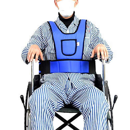 QETU Wheelchair Seat Restraint Vest Seat Belt, Chest Vest Restraint for Use with Bed or Chair