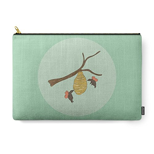 "Society6 Grizzly Bees Carry-All Pouch Large (12.5"" x 8.5"")"