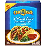 Ortega 3 Pack Taco Seasoning Mix, 3.75 Ounce -- 12 per case.