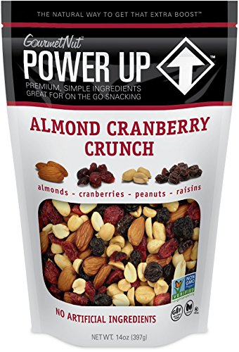 Power Up Trail Mix, Almond Cranberry Crunch Trail Mix, Non-GMO, Vegan, Gluten Free, No Artificial Ingredients, Gourmet Nut, 14 Ounce Bag