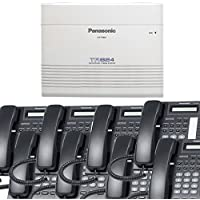 Panasonic Small Office Business Phone System Bundle Brand New includiing KX-T7730 8 Phones Black and KX-TA824 PBX Advanced Phone System
