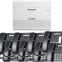 Panasonic Small Office Business Phone System Bundle Brand New includiing KX-T7730 8 Phones Black and KX-TA824 PBX Advanced Phone System