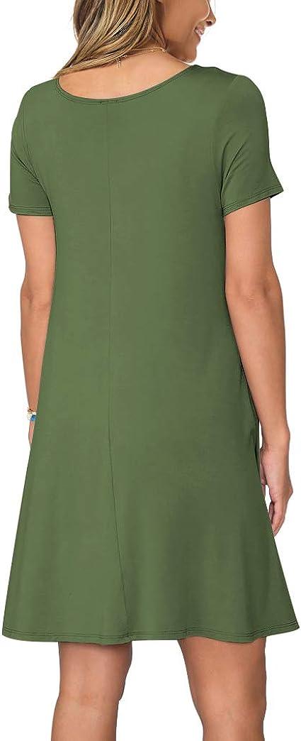 Women's Summer Casual Short Sleeve T Shirt Dress
