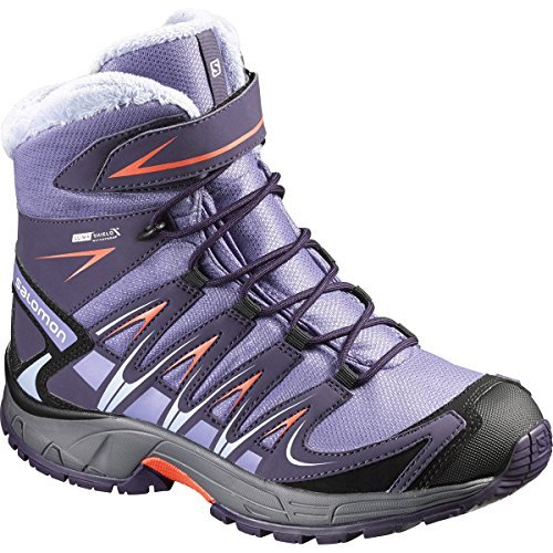 Salomon Children's XA PRO 3D Winter Thinsulate CS Waterproof Boot,Thistle Grey/N Salomon Kids Xa Pro Shoe
