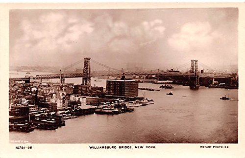 (Williamsburg Bridge New York City, New York postcard)