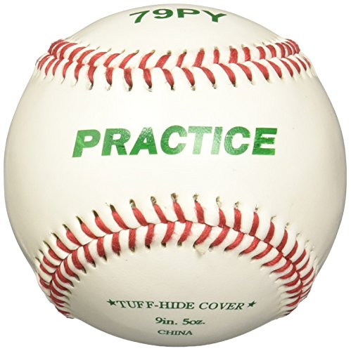 Macgregor 79PY Boys Practice Baseball, White, Youth (One - Baseball Little League Kids