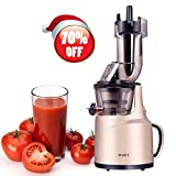 BPA-Free Whole Slow Juicer with Wide Mouth Juice Maker, 240W AC Motor, High Nutrient Fruit and Vegetable Juice