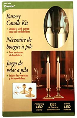 Good Tidings LED Classic Christmas Window Candle with Suction Cup, Set of 2
