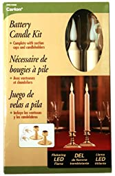 Xodus Innovations LLC LED Tapered Christmas Window Candle Ivory With Built-In Timer Two Pack