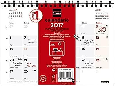 Finocam 214434 - Calendario de sobremesa, castellano, 21 x 15 cm: Amazon.es: Oficina y papelería