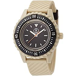 Q & Q SmileSolar watch 20BAR series black ~ beige RP06-003 Men