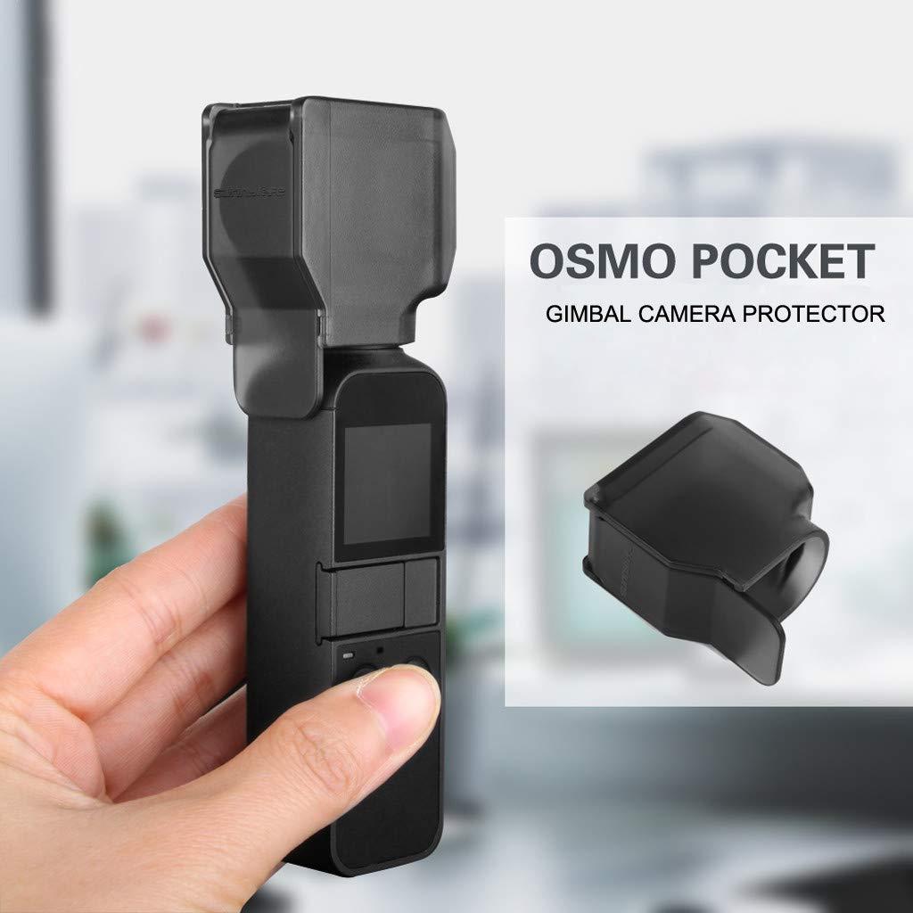 Hisoul ホット/DJI OSMO ポケットレンズフード 快適な手触り ポータブルカメラロックレンズカバー フードキャップ ジンバルプロテクター ブラック 35866d B07M6FQLMR  ブラック
