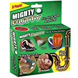 Multi Purpose Mighty Putty Fix Fill Seal Gap Loophole Permanent Repair for Metal Fiberglass Wood Plastic Other Surfaces Epoxy Repair Putty with Two Gloves, 3 Tubes/Set