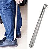 Metal Shoe Horn,Extral Long handled Shoehorn,16'' Heavy Duty Stainless Steel Shoes Horn for Women,Men,Kids,Seniors,Elderly,Disabled,Pregnancy,Boots,Dress,Runing,Shoes,Sneakers