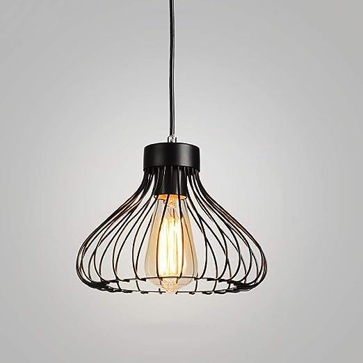 AI LI WEI Beautiful Lamps/Luz Pendiente Jaula de Hierro Negro ...