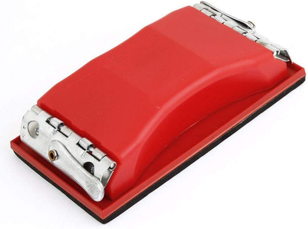 ZCZSDXB sandpaper-Rectangle paper grit sandpaper holder hand sander red,red