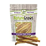 Cheap Nature Gnaws Extra Thin Bully Sticks 5-6″ (25 Pack) – 100% All-Natural Grass-Fed Free-Range Premium Beef Dog Chews