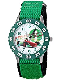 Kids' Cars Francesco Bernoulli Stainless Steel Time Teacher Watch, W001587, Green Nylon Band