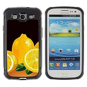 Suave TPU GEL Carcasa Funda Silicona Blando Estuche Caso de protección (para) Samsung Galaxy S3 III I9300 / CECELL Phone case / / Lemons Yellow Fresh Food Fruit Drawing /