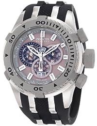 Invicta Men's 0981 Reserve Chronograph Grey Dial Black Polyurethane Watch