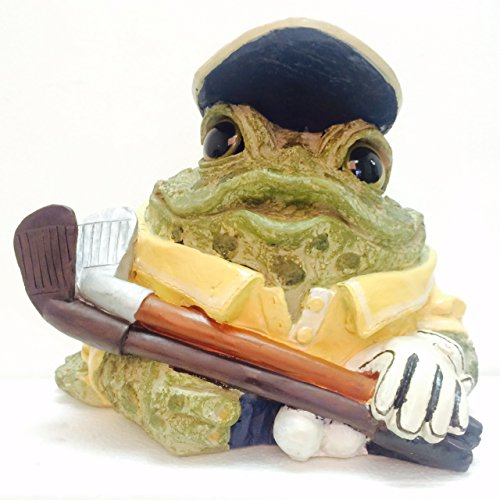 Homestyles Toad Hollow #95618 Figurine Golfer with Golf Club and Ball Sports Character Garden Statue Toad Figure X-Large 11