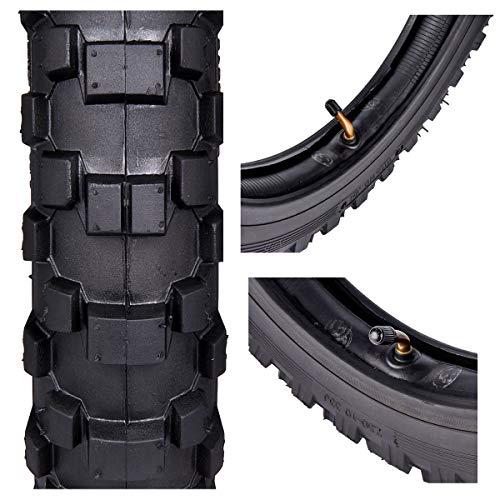 2.50x10'' Knobby Tyre 2.5-10 Front + Rear Tire w/ TR87 Inner Tube for Mini Dirt Bike XR50 CRF50 PW50 SDG107 KTM 50SX Morini Razor SX500 by Wingsmoto (Image #3)