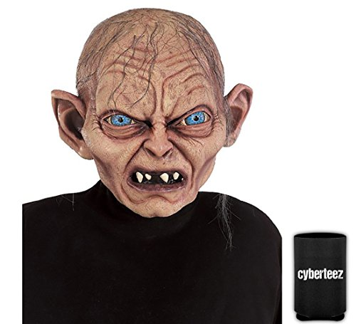 Gollum Smeagol Adult Overhead Costume Mask Hobbit Lord of The Rings + Coolie - Gollum Latex