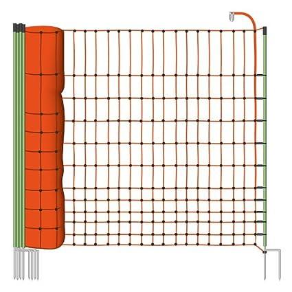 Malla eléctrica para gallinas y aves de corral, rollo de 50m de longitud y 112cm
