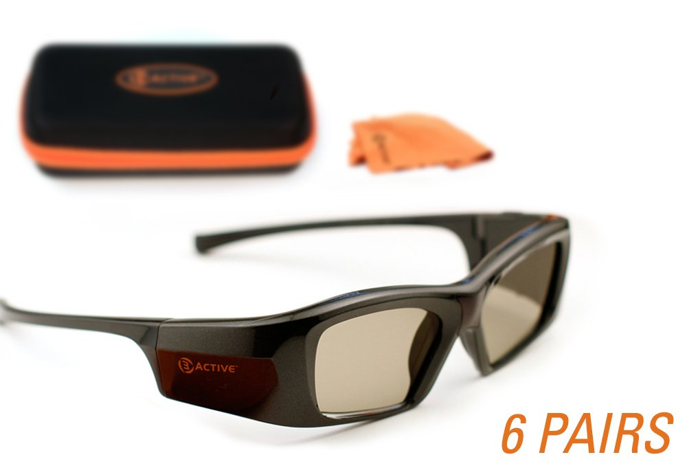 SAMSUNG-Compatible 3ACTIVE 3D Glasses. Rechargeable. MEGA-PACK by 3ACTIVE