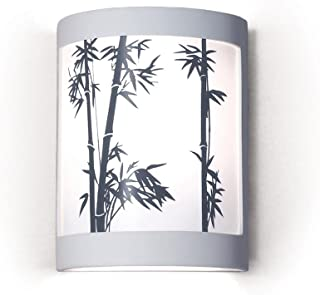 product image for Silhouette Bamboo Stalks Design Ceramic Wall Sconce