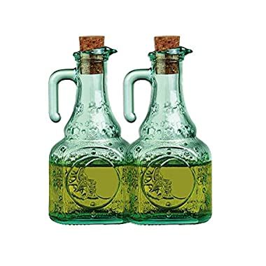 Bormioli Rocco Country Home Helios Glass Oil Cruet, Set of 2