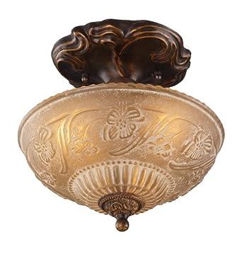 golden lighting fixtures. elk 08103agb restoration 3light semiflush mount 10inch golden lighting fixtures