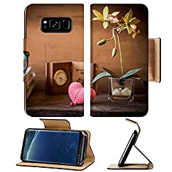 Luxlady Premium Samsung Galaxy S8 Flip Pu Leather Wallet Case IMAGE 25976172 flowers clock heart shape toy and books